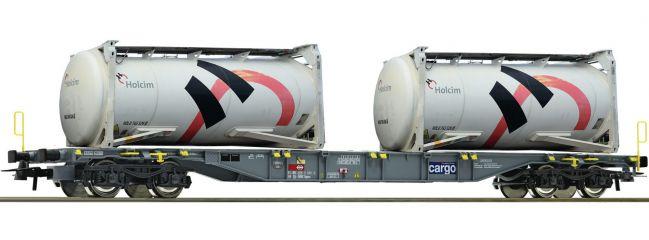 Roco 76943 Containertragwagen m. Holcim Tankcontainer SBB | DC | Spur H0