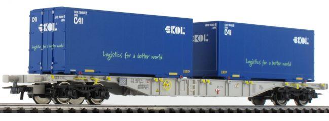 ausverkauft | Roco 76947 Containertragwagen Sgns Ekol AAE | DC | Spur H0