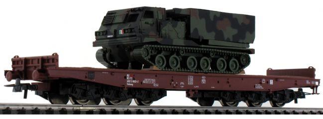 Roco 76954 Schwerlastwagen Salmmp mit Panzer FS | DC | Spur H0
