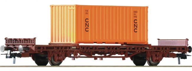 Roco 76986 Rungenwagen + Container SNCF | DC | Spur H0