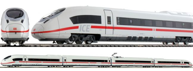 Roco 78041 ICE 3 BR 407 4-tlg. DB AG   AC-Sound   Spur H0