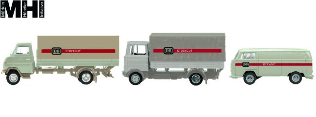 Schuco 452655300 DB Stückgut 3er Set Edition  | MHI | Automodell 1:87