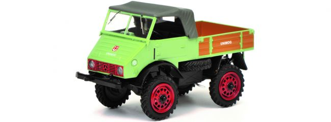 Schuco 450313200 Unimog U 401 hellgrün | Landwirtschaftsmodell 1:43