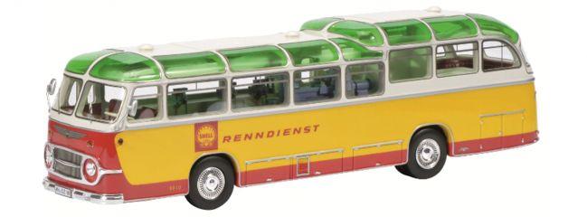 Schuco 450896500 Neoplan FH 11 Shell Renndienst | Limited Edition | Modellbus 1:43