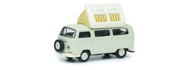Schuco 452640400 VW T2a Camper, grau/weiß | Modellauto 1:87
