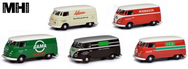 Schuco 452646300 5-tlg. Set VW T1c Kastenwagen | MHI Edition | Modellautos 1:87