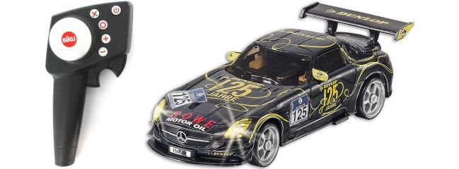 SIKU 6823 Mercedes-Benz SLS AMG GT3 125 Jahre Dunlop Set RC Auto 1:43