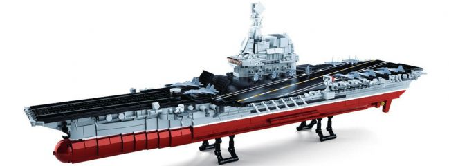 Sluban M38-B0698 Großer Flugzeugträger II | 1636 Teile | Schiff Baukasten