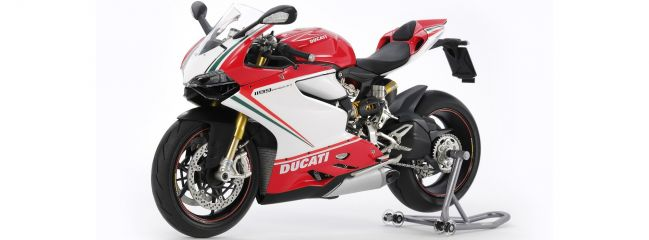 TAMIYA 14132 Ducati 1199 Panigale S Tricolore   Motorrad Bausatz 1:12