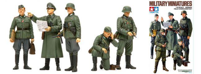 TAMIYA 35298 deutscher Feldkommandant + Soldaten Figuren | WWII | Bausatz 1:35