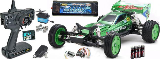 TAMIYA 47371SET1 Neo Fighter Buggy DT-03 Green Metallic | RC Auto Bausatz 1:10