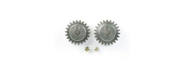 TAMIYA 50357 Motorritzel 22 Zähne | 23 Zähne | Modul 0,6 | Aluminium