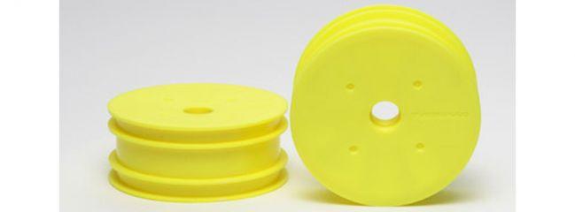 TAMIYA 54285 DN-01/ TRF201 Dish-Felgen Neon Gelb vorn (2)