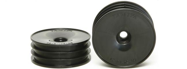 TAMIYA 54338 Dish-Felgen | schwarz | vorn | 2 Stück | für TAMIYA DT-02 Buggy