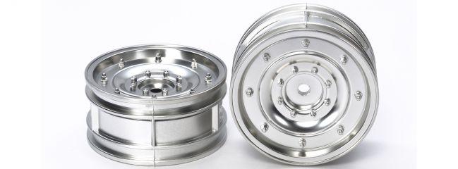 TAMIYA 54737 CC-01 Dish-Felgen Silber matt | 1:10