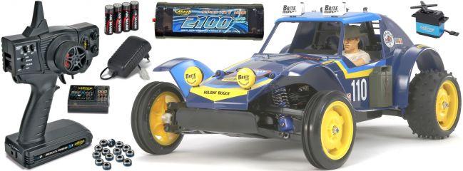 TAMIYA 58470SET1 DT-02 Holiday Buggy | Komplett RC Auto Bausatz 1:10