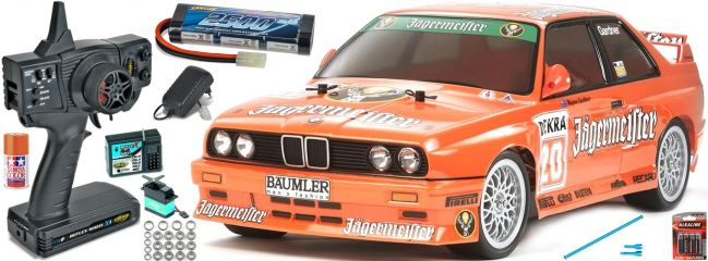 TAMIYA 58541SET M3 Sport Evo Jägermeister TT-01E | Komplett RC Auto Bausatz 1:10