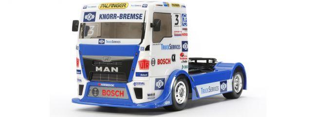 TAMIYA 58632 MAN TGS Racing Truck Team Hahn TT-01E | RC Auto Bausatz 1:14