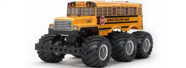 TAMIYA 58653 King Yellow 6x6 Bus G6-01 | RC Auto Bausatz 1:18