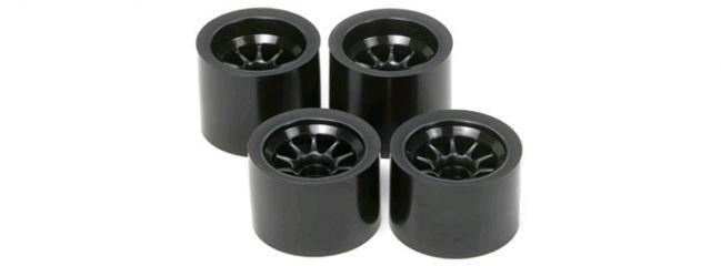 TAMIYA 51378 F104, TRF101 Felgen-Set schwarz für Moosgummireifen