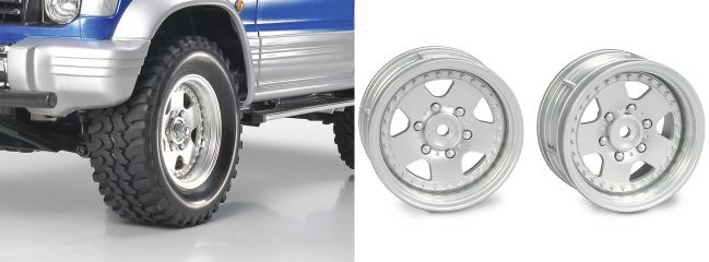 TAMIYA 0445516 Felgen Stadium Racing Truck Ford F-150 (58161).Chrom 26 mm (2 Stck.)