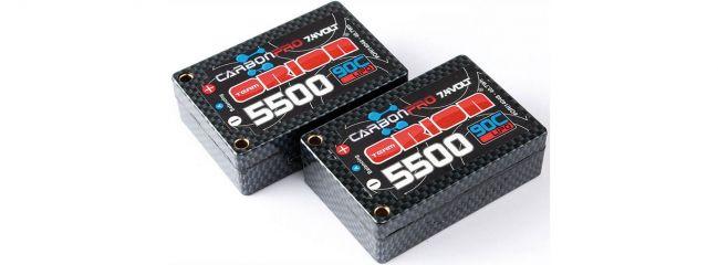 Team ORION ORI14048 Carbon Pro 5500mAh 90C 7.4V Saddle Pack