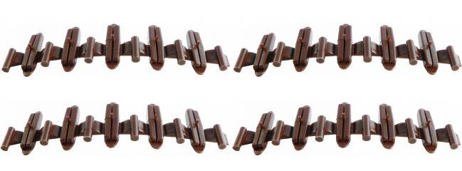 TILLIG 85502 Isolierschienenverbinder braun | 20 Stück | Spur H0