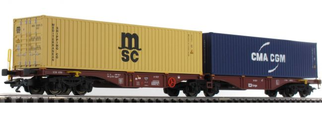 TRIX 24800 Doppel-Tragwagen CD-Cargo | DC | Spur H0