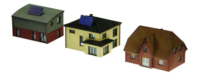 MINITRIX 66301 Bausatz moderne Einfamilienhäuser   3 Stück   Spur N