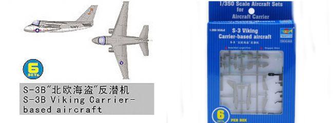 TRUMPETER 756226 Lockheed S-3 Viking 6 Stück für Flugzeugträger Bausatz 1:350