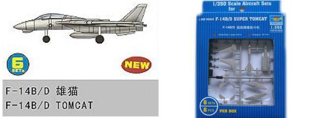 TRUMPETER 756236 Grumman F-14B/D Super Tomcat 6 Stück für Flugzeugträger Bausatz 1:350