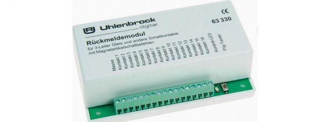 Uhlenbrock 63330 LocoNet Rückmeldemodul 3-Leiter-Gleis