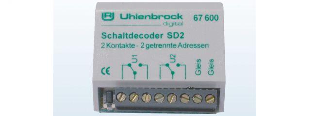 Uhlenbrock 67600 SD2 Schaltdecoder
