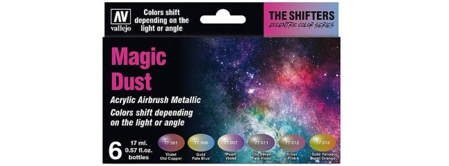 VALLEJO 777090 Airbrush-Farbset Magic Dust | 6  x 17ml