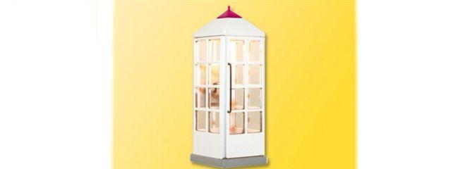 Viessmann 1372 Telefonzelle Telekom geschlossen mit LED-Beleuchtung Fertigmodell 1:87