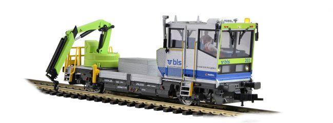Viessmann 2622 Robel Gleiskraftwagen mit bwegtem Kran BLS DC Fertigmodell 1:87