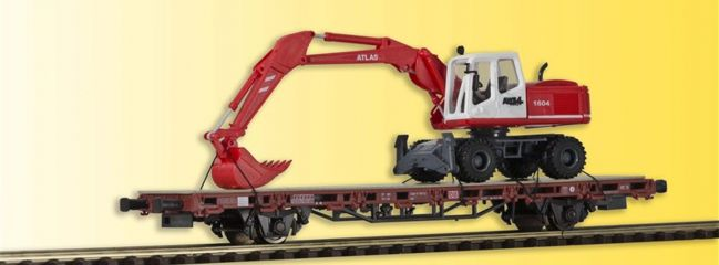 kibri 26258 Niederbordwagen mit Atlas Radbagger Spur H0