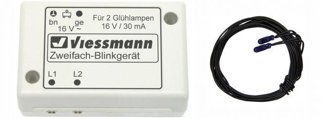 Viessmann 5037 Zweifach-Blinkelektronik mit 2 blauen Glühlampen