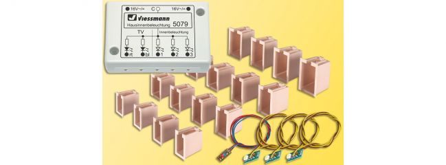 Viessmann 5079 LED-Hausinnenbeleuchtung mit TV-Simulation Spur H0