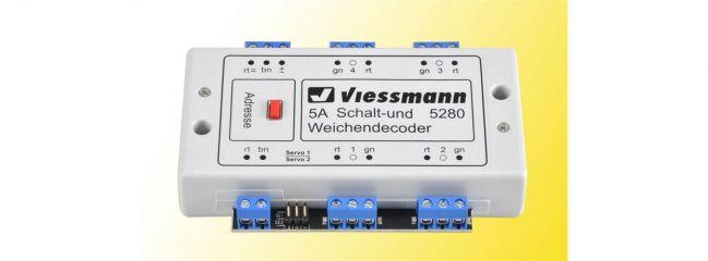 Viessmann 5280 Multiprotokoll-Weichendecoder 5 Ampere