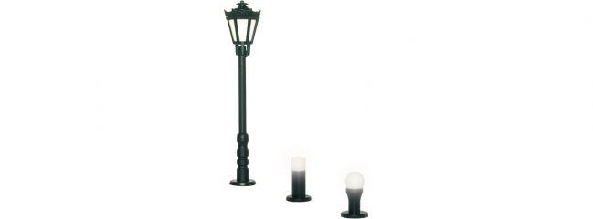 Viessmann 6160 Gartenleuchten-Set schwarz | LED warmweiß | Spur H0