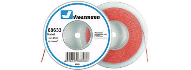 Viessmann 68633 Kabel 0,14 mm² | rot | 25 Meter