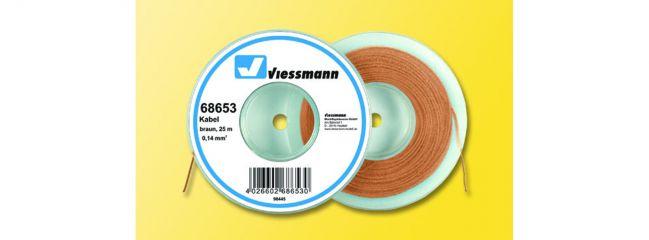 Viessmann 68653 Kabel 25 m 0,14 mm² braun
