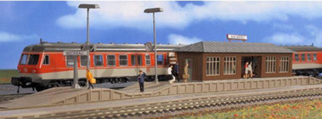 VOLLMER 43549 Bahnsteig Niederau mit Wartehalle Bausatz Spur H0