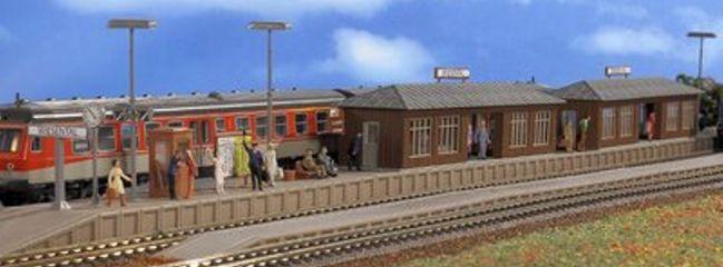 VOLLMER 43550 Bahnsteig Wiesental mit 2 Wartehallen   Bausatz Spur H0