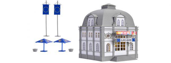 VOLLMER 42002 Euro Bank Bausatz mit 2 x Euro-Rettungsschirm H0