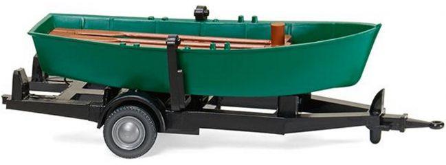 WIKING 009401 Ruderboot auf Anhänger | Modellauto Zubehör 1:87