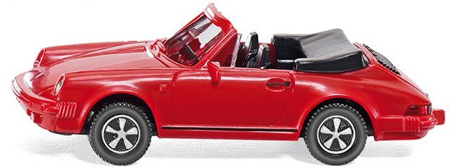 WIKING 016203 Porsche 911 SC Cabriolet rot | Automodell 1:87