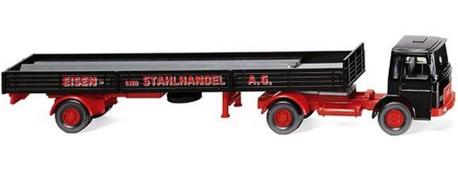 WIKING 048803 MAN Pritschensattelzug | Eisen- und Stahlhandel | LKW-Modell 1:87