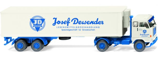 WIKING 052852 Volvo F88 Kühlkoffersattelzug | Josef Dewender | MC-Vedes | 1:87